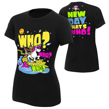 WWE AUTHENTIC THE NEW DAY WHO? WOMENS T-SHIRT S M XL 2XL XXL NEW FREE SHIPPING