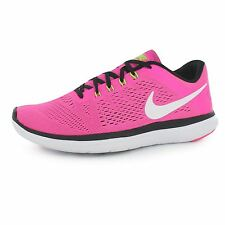Nike Flex 2016 Run Running Shoes Womens Pink/White Trainers Sneakers Sports Shoe