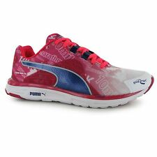 Puma Faas 500 V4 Running Shoes Womens Wht/Pnk/Blue Trainers Sneakers Sports Shoe
