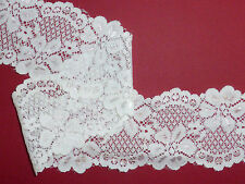 """*The Place For Lace* 2 METRES Ivory/Pale Cream Soft Stretch Lace Trim 2.5""""/6cm"""