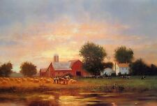 """Raymond Knaub, """"Summer Harvest"""", poster,  24""""h x 36""""w, signed/unsigned"""
