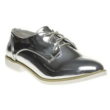 New Womens Dolcis Metallic Kia Synthetic Shoes Flats Lace Up