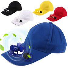 Novelty Sun Solar Power Hat Cap with Cooling Fan for out door Golf Baseball Hats