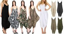 Ladies Jumpsuit Womens Cami Thin Strappy Playsuit Lagenlook Romper Baggy Harem