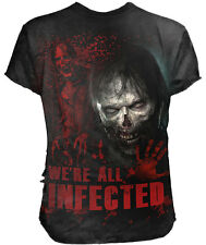 Official Walking Dead ZOMBIE ALL INFECTED T-Shirt Black, 3D/Ripped/Plus/3XL/4XL