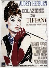 Breakfast At Tiffany'S Italian Poster Art Featuring Audrey Hepburn 1961 Poster