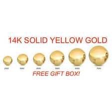 14K Solid Yellow Gold Ball Stud Size 2-8mm Children ScrewBack Baby Girl Earrings