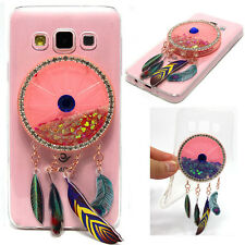 2017 Wind chimes Bling Heart Quicksand Phone Case Cover For Huawei ASUS Sony HTC