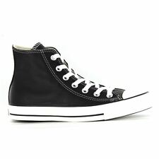 Converse Chuck Taylor All Star Hi Black Leather Mens Trainers