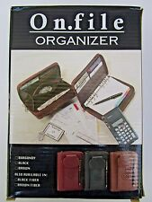 On file Double Zip Organizer, Planner Telephone Address Card & Phone Holder, NEW