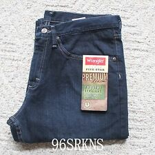 NWT Wrangler Men's Regular Fit Straight Leg Jeans Premium Denim Real Comfortable