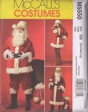 NEW MCCALL'S M5550 MISSES & MENS SANTA COSTUMES & BAG SML MED LRG / XLG XXL XXXL