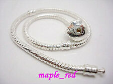 10pcs Fashion Silver plated Snake Chain Bracelets for European Charms Beads