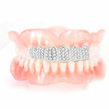 Plated HIP HOP Teeth Grillz With Vampire Teeth Plated Iced Out Grillz XP