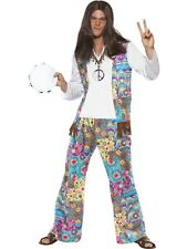SALE! Adult 60s - 70s Hippie / Hippy Mens Fancy Dress Costume Stag Party Outfit