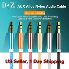 3FT 3.5MM STEREO AUDIO HEADPHONE CABLE CORD MALE TO MALE AUX MP3 IPOD PC IPHONE