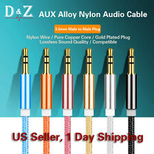 3.5mm AUX Auxiliary Cord Male to Male Stereo Audio Cable for PC iPod MP3 Car HTC