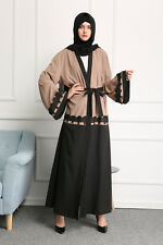 Women Dubai Style Abaya Kaftan Jilbab Muslim Cocktail dress Islamic Cardigan New
