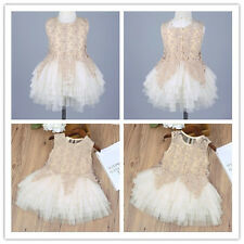 Kids Baby Girls Princess Pageant Wedding Party Flower Tulle Tutu Casual Dresses