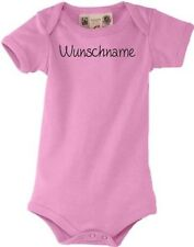 Shirtstown cuddly Baby body suit individual with the text of your choice pin