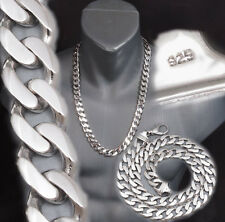 """CURB CUBAN CHAIN HEAVY LINKS 925 STERLING SILVER MENS NECKLACE 20 22 24"""" 26"""" 28"""""""
