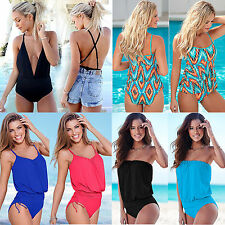 Sexy Womens Swimming Costume One Piece Monokini Swimsuit Tankini Swimwear Bikini