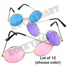 (LOT OF 12) John Lennon Style Colored Sunglasses
