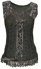 New Pretty Angel Clothing Mercer Women's Vintage Corset Top In Blacks 67642
