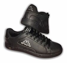 Mens Boys Black Retro Style Trainers Kappa VELLETRI Lace Up sizes 7-12 available