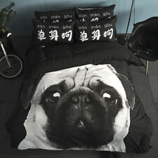 Black Dog Animal Single Queen King Size Quilt/Duvet/Doona Cover Set Sheet Fitted