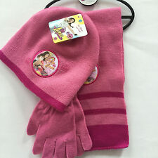 Lot Princess knit beanie hat children winter knitted  scarf gloves hat set M774
