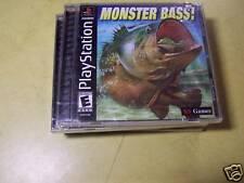 NEW PLAYSTATION 1 PS1 GAME MONSTER BASS