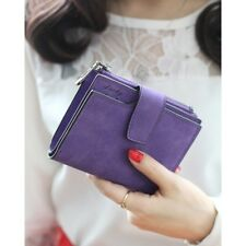 New Fashion Solid Color Vintage Zipper Card Holder Wallet For Women