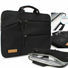 """16"""" Black Laptop Soft Sleeve Case Bag Pouch For 15.6"""" HP Dell Acer Sony Toshiba"""