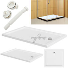 Square/Rectangle Shower Tray for Bathroom Shower Enclosure Glass Door+Free Waste