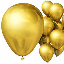 PACK OF 24 METALLIC BALLOONS IN GOLD OR SILVER.DECORATIONS BIRTHDAY XMAS PARTIES