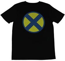 X-Men (Marvel Comics) Mens T-Shirt - Blue Yellow X Logo Image