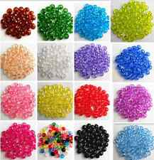 6 mm 15 Colors Rondelle Bicone Acrylic Spacer Loose Beads Free Ship