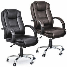 Executive Office Chair PU Leather Computer Desk Swivel High Back Business Luxury