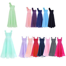 Flower Girls Dress Chiffon Princess Formal Pageant Wedding Bridesmaid Party 4-14
