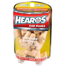 New Hearos Ultimate Softness Ear Plugs (NRR 32) (20 Pairs)