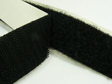 1M or 2M x BLACK Strong 50mm width SELF Adhesive  HOOK and LOOP Fastener TAPE