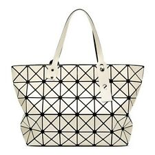Women Interior Zipper Pocket 3 Solid Geometric Pattern Color Handbag