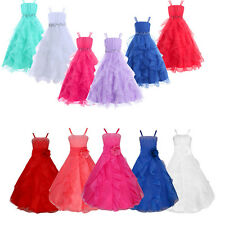 Strap Pageant Tulle Party Princess Ballgown Wedding Birthday Flower Girl Dresses
