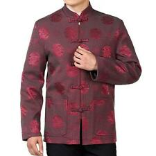 Chinese Mens Traditional Coat Tang Suit blue red Jacket outerwear stand collar