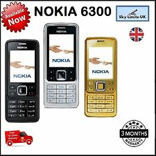 New Nokia 6300 Black Gold Silver Unlocked Mobile Phones Warranty