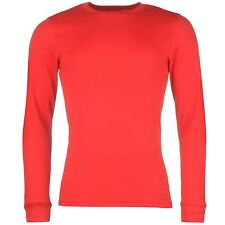 Campri Mens Thermal Baselayer Top Round Neck Long Sleeve Stretch Fit Thermal