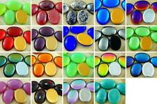 2pcs Oval Czech Glass Cabochon 25mm x 18mm
