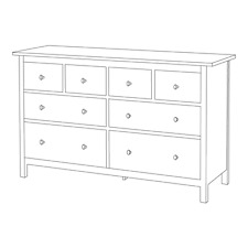 New IKEA HEMNES Chest of 8 drawers, red-brown 003.113.04