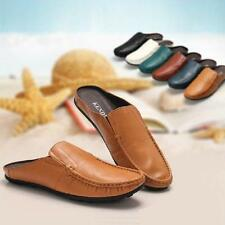 New Mens Calfskin Leather Shoes Soft Slippers Loafers Moccasins Casual SZ 2017